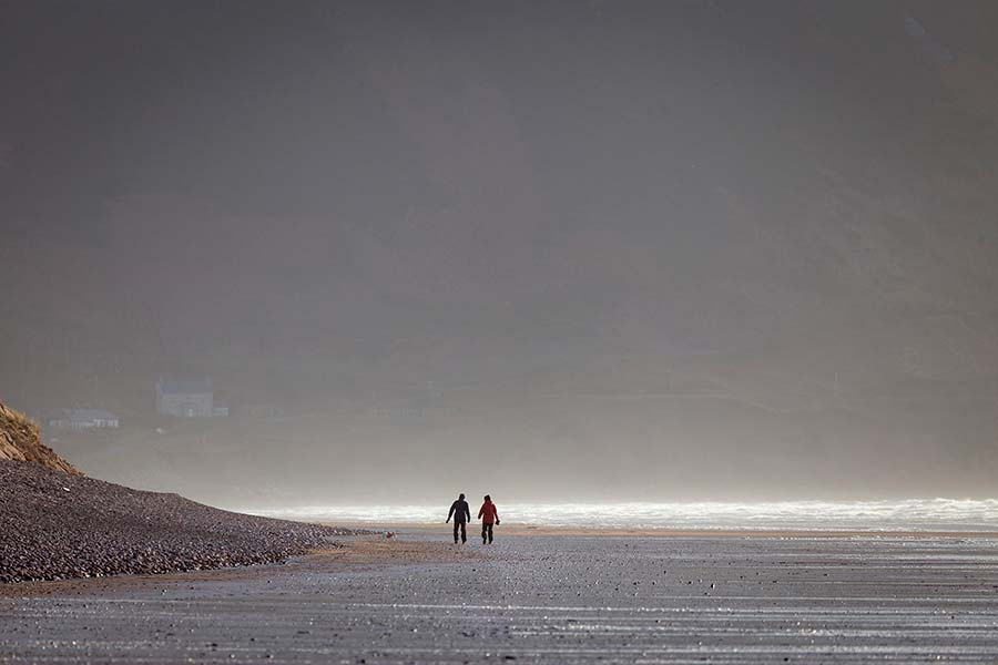 Walking Rossbeigh Beach in winter